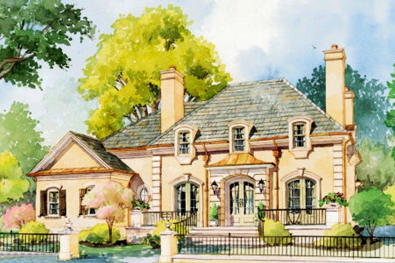 Dream House Plan - European Exterior - Front Elevation Plan #429-42