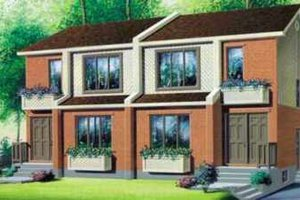 Modern Exterior - Front Elevation Plan #25-329