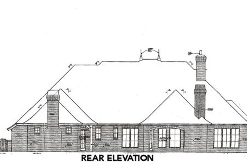 European Exterior - Rear Elevation Plan #310-657 - Houseplans.com