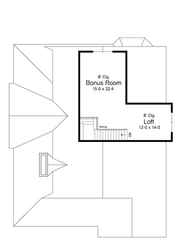 Country Floor Plan - Other Floor Plan Plan #51-486