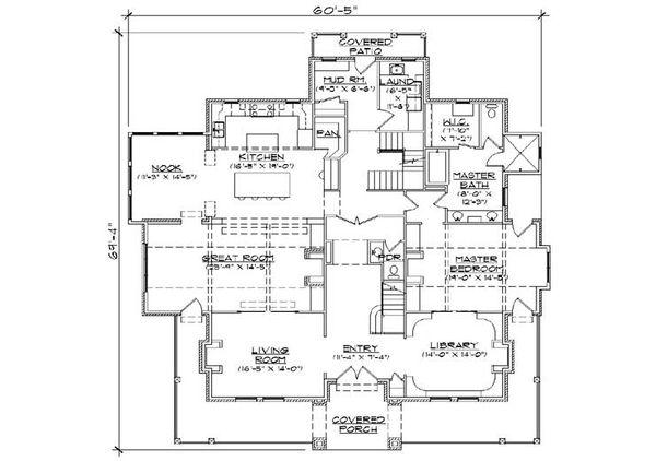 House Plan Design - Victorian Floor Plan - Main Floor Plan #5-441