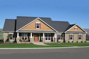 Craftsman Style House Plan - 4 Beds 3.5 Baths 2800 Sq/Ft Plan #21-349 Exterior - Front Elevation