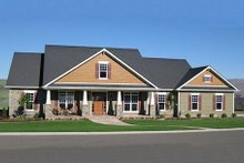 Dream House Plan - Craftsman Exterior - Front Elevation Plan #21-349
