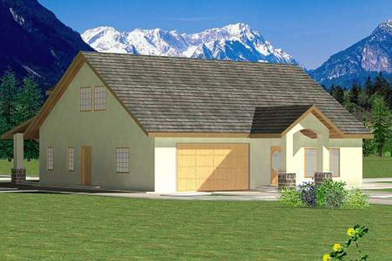 Traditional Exterior - Front Elevation Plan #117-566 - Houseplans.com
