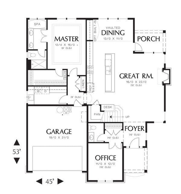 Traditional Floor Plan - Main Floor Plan Plan #48-526