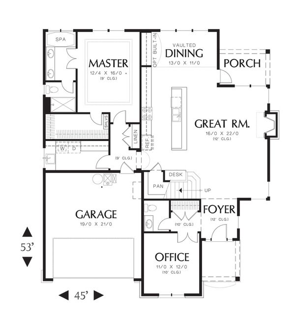 Home Plan - Traditional Floor Plan - Main Floor Plan #48-526