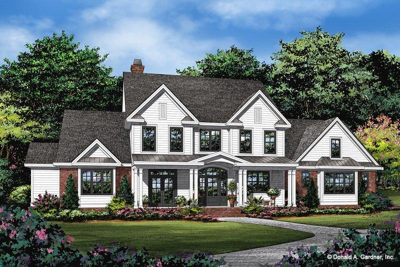 Dream House Plan - Farmhouse Exterior - Front Elevation Plan #929-1113