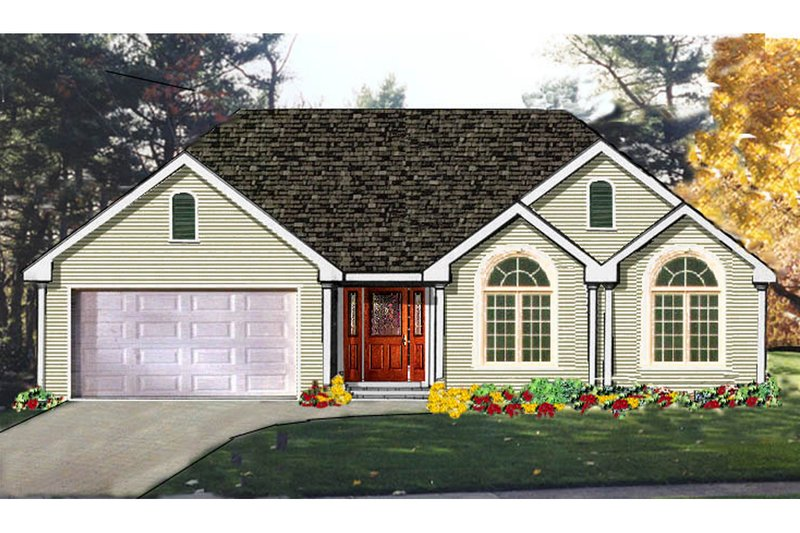 House Plan Design - Traditional Exterior - Front Elevation Plan #3-126
