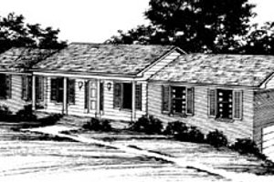 Ranch Exterior - Front Elevation Plan #10-135