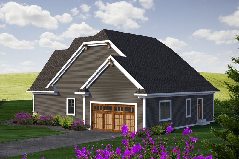 Craftsman Exterior - Rear Elevation Plan #70-1229 - Houseplans.com