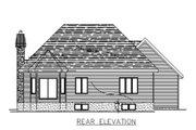 European Style House Plan - 2 Beds 1 Baths 1329 Sq/Ft Plan #138-312 Exterior - Rear Elevation