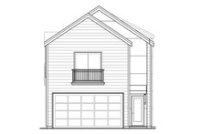 House Plan Design - Contemporary Exterior - Rear Elevation Plan #124-1131