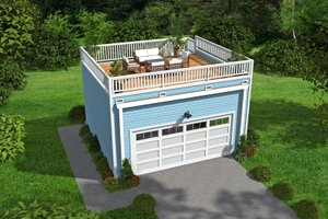 Contemporary Exterior - Front Elevation Plan #932-52