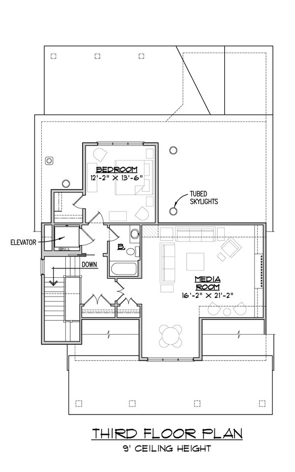 Craftsman Floor Plan - Other Floor Plan Plan #1054-33