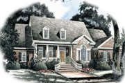 Traditional Style House Plan - 3 Beds 2.5 Baths 2998 Sq/Ft Plan #429-41 Exterior - Front Elevation