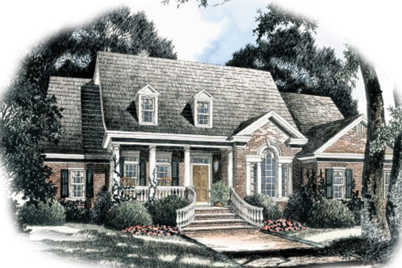 Traditional Exterior - Front Elevation Plan #429-41 - Houseplans.com