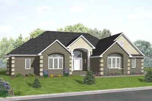 Traditional Exterior - Front Elevation Plan #50-258