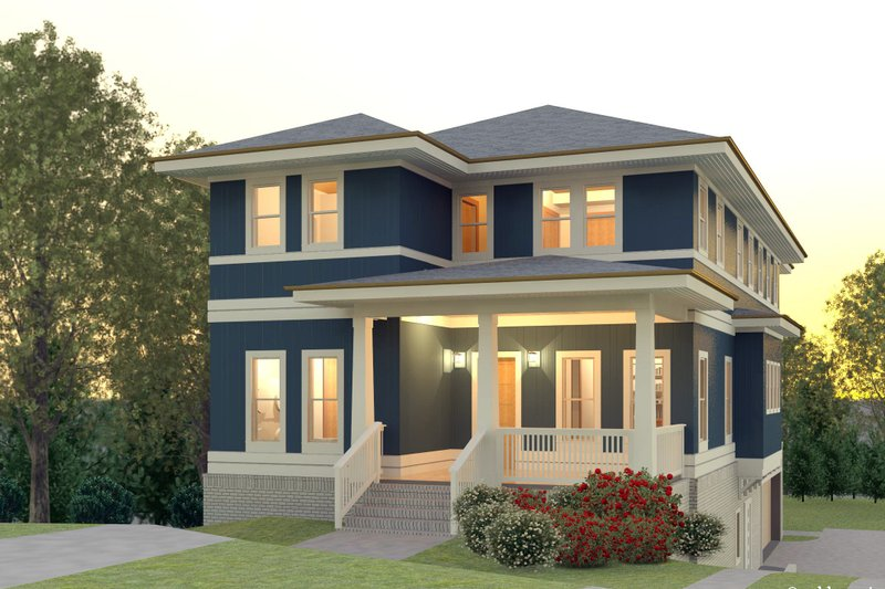 Contemporary Style House Plan - 5 Beds 3.5 Baths 3193 Sq/Ft Plan #926-4 Exterior - Front Elevation
