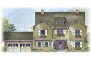 Traditional Style House Plan - 4 Beds 2.5 Baths 2483 Sq/Ft Plan #901-85 Exterior - Front Elevation