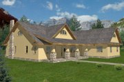 Traditional Style House Plan - 2 Beds 3 Baths 2283 Sq/Ft Plan #117-151 Exterior - Front Elevation