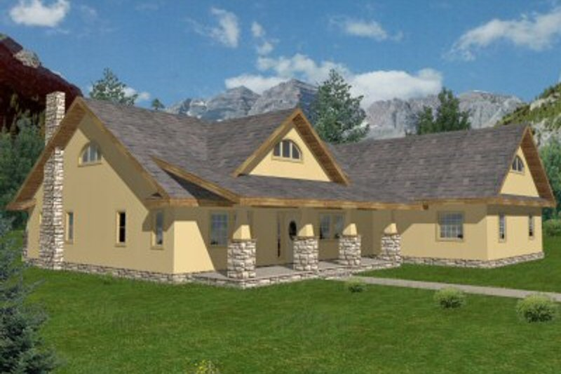 Traditional Exterior - Front Elevation Plan #117-151 - Houseplans.com