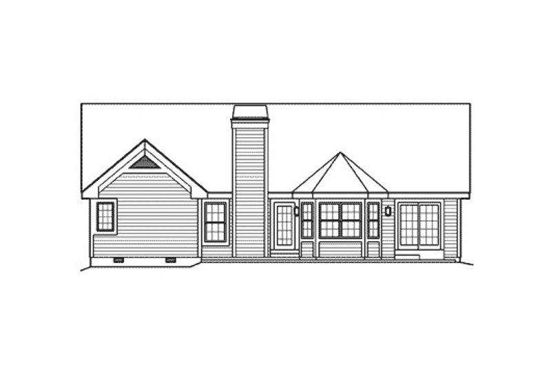 Traditional Exterior - Rear Elevation Plan #57-369 - Houseplans.com