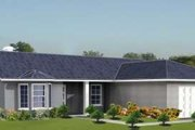 Adobe / Southwestern Style House Plan - 3 Beds 2 Baths 1497 Sq/Ft Plan #1-421 Exterior - Front Elevation