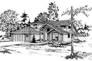 Contemporary Style House Plan - 3 Beds 2.5 Baths 2294 Sq/Ft Plan #124-152 Exterior - Front Elevation