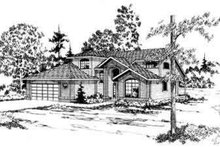 Contemporary Exterior - Front Elevation Plan #124-152