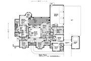 European Style House Plan - 4 Beds 4.5 Baths 4306 Sq/Ft Plan #310-1296 Floor Plan - Main Floor Plan