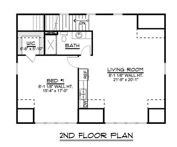 Country Floor Plan - Upper Floor Plan #1064-75