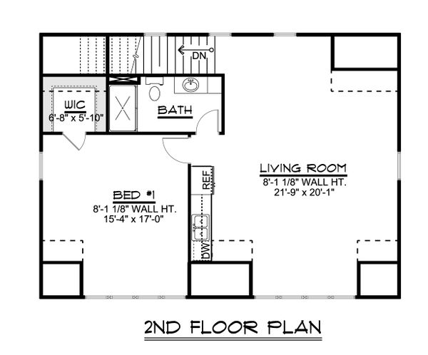 Dream House Plan - Country Floor Plan - Upper Floor Plan #1064-75