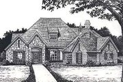 European Style House Plan - 4 Beds 3.5 Baths 2536 Sq/Ft Plan #310-883 Exterior - Front Elevation