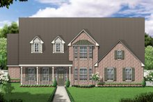 Colonial Exterior - Front Elevation Plan #84-421