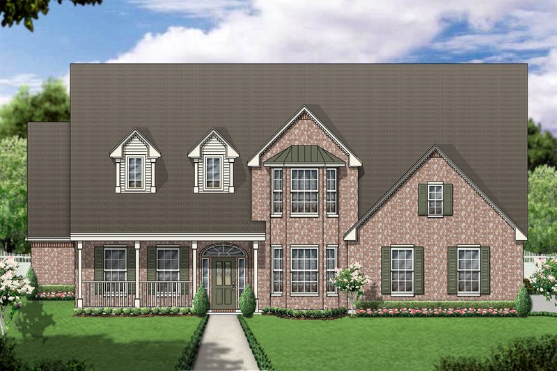 Dream House Plan - Colonial Exterior - Front Elevation Plan #84-421
