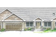 Traditional Style House Plan - 3 Beds 2 Baths 1842 Sq/Ft Plan #53-192 Exterior - Front Elevation