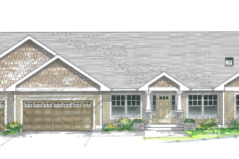 Dream House Plan - Traditional Exterior - Front Elevation Plan #53-192