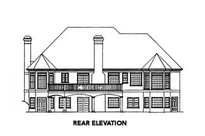 Traditional Exterior - Rear Elevation Plan #429-28 - Houseplans.com