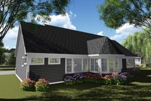 Dream House Plan - Ranch Exterior - Rear Elevation Plan #70-1248