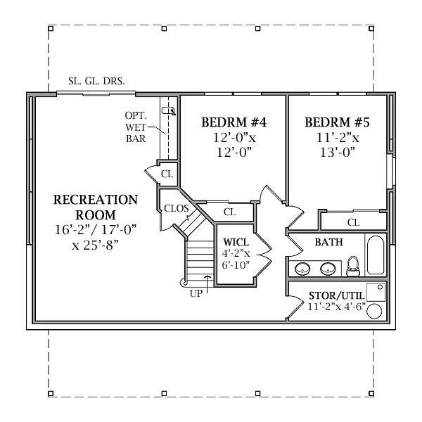 Cabin Floor Plan - Lower Floor Plan #456-17