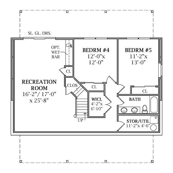 Cabin Floor Plan - Lower Floor Plan #456-17