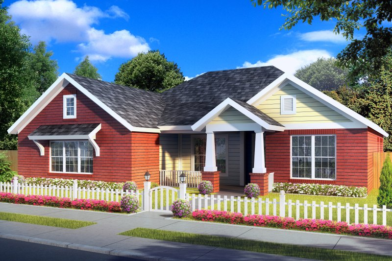 Traditional Exterior - Front Elevation Plan #513-2062 - Houseplans.com