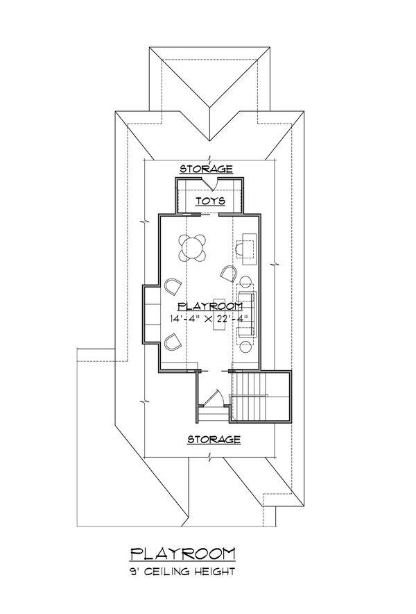 Colonial Floor Plan - Upper Floor Plan Plan #1054-60