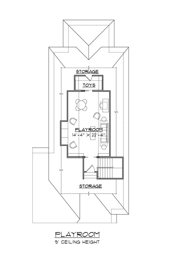 House Plan Design - Colonial Floor Plan - Upper Floor Plan #1054-60