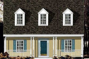 Architectural House Design - Country Exterior - Front Elevation Plan #3-152