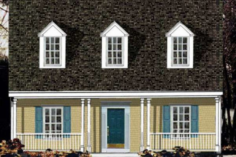 Country Exterior - Front Elevation Plan #3-152