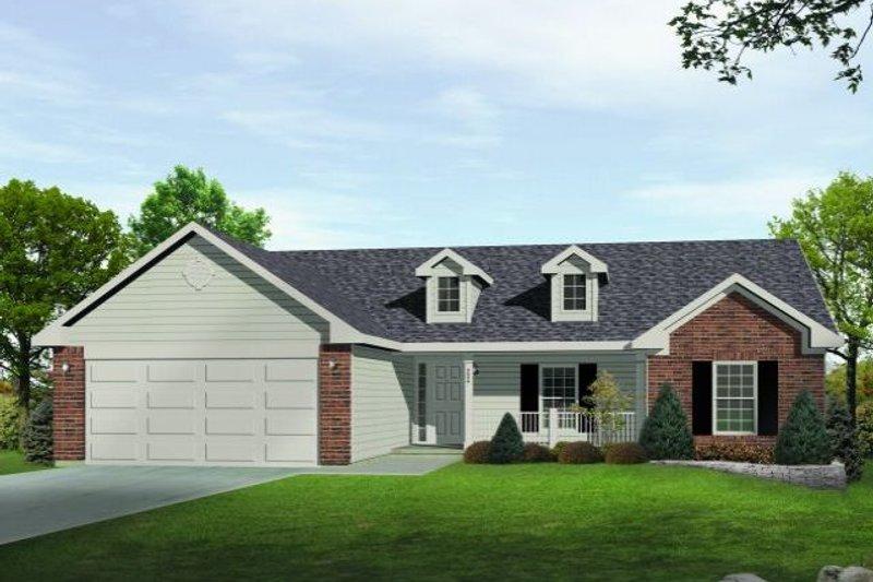 House Plan Design - Ranch Exterior - Front Elevation Plan #22-522