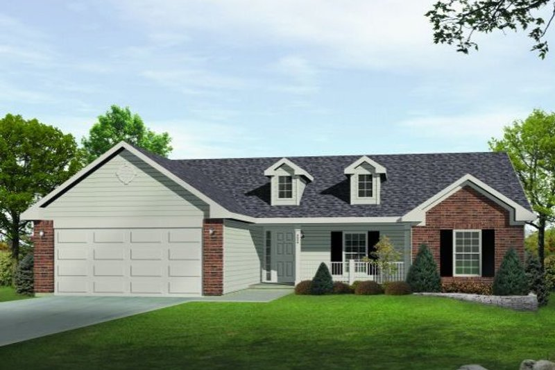 Home Plan - Ranch Exterior - Front Elevation Plan #22-522