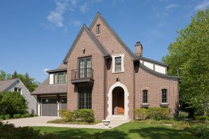 Home Plan - Tudor Exterior - Front Elevation Plan #901-141
