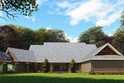 Craftsman Style House Plan - 3 Beds 2 Baths 3698 Sq/Ft Plan #923-162 Exterior - Rear Elevation